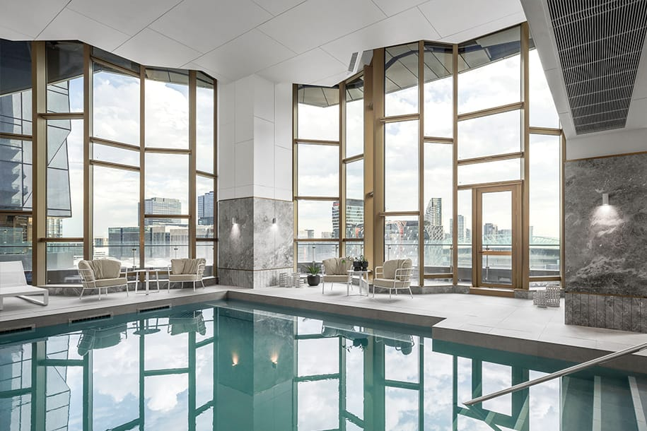 Heated pool, level 11